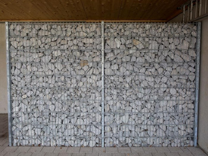 Gittersteinwand, Höhe 2030 mm, Feuerverzinkt