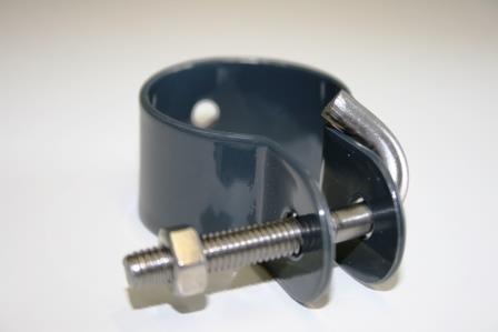 34mm Hakenschelle Anthrazit für Geflechtsspannstab