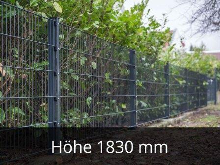 868 Doppelstabmattenzaun Höhe 1830mm