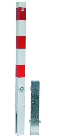 470FB Absperrpfosten 70x70mm herausnehmbar, mit Dreikantverschluß