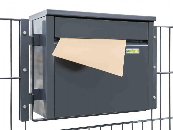 Zaunbriefkasten PIAZZA in RAL 7016 anthrazit Briefkasten Durchwurfbriefkasten