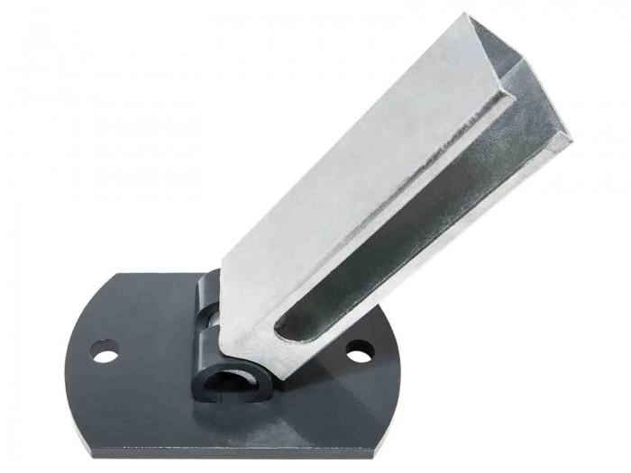 Flexi Bodenplatte anthrazit 60 x 40 mm Zaunpfosten bis 1230 mm Zaunhöhe