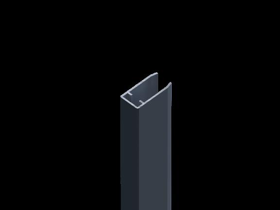 Alu Wand- und Pfostenanschlussprofil für Alu-Füllprofil