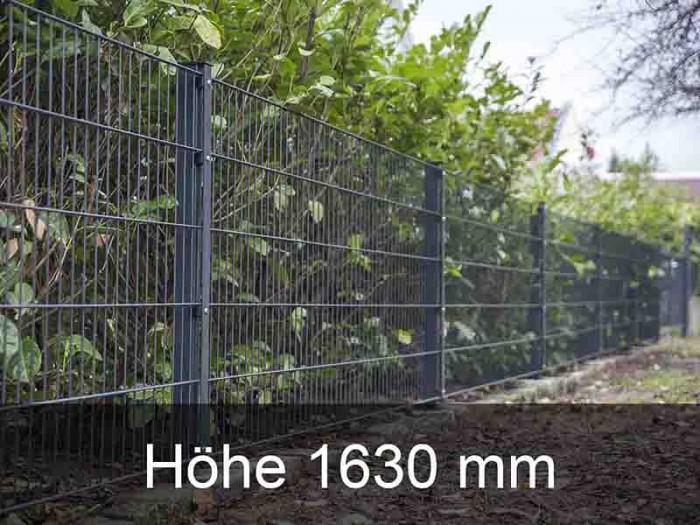 656 Doppelstabmattenzaun Höhe 1630mm