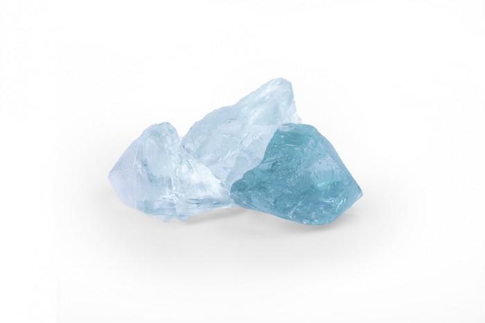 Glas Turquoise Körnung:50-120mm Glasstein