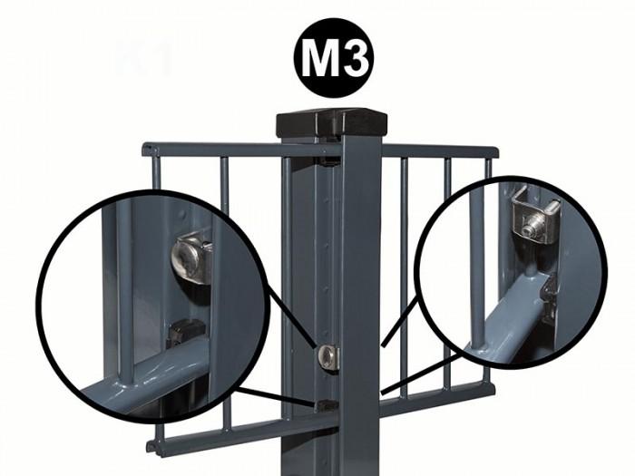 Sicherungs U, für Pfostenyp M 3