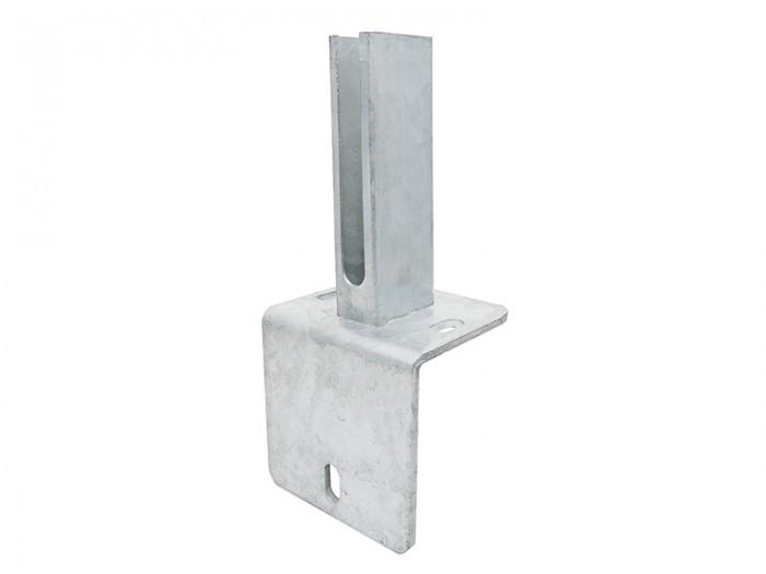 Winkel Fußplatten Adapter für 60x40mm Zaunpfosten
