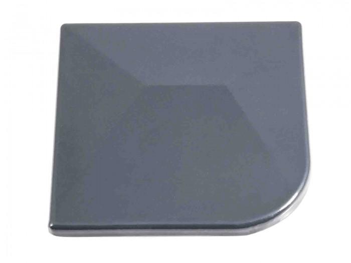 Aluminium Eck Pfostenkappe 60x60mm abgerundet