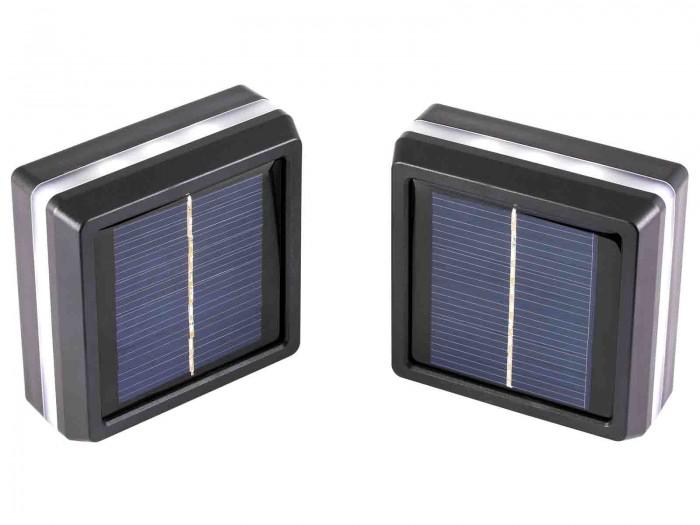 LED Pfostenkappe Solarkappe für Zaunpfosten Inhalt: 2 Stück