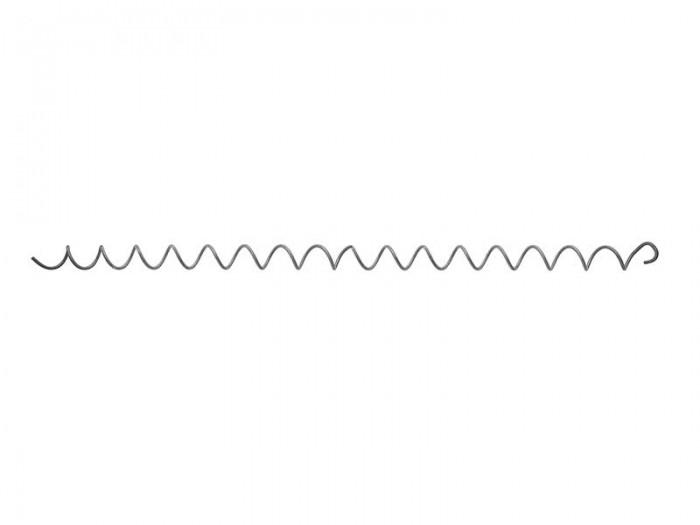 5x Spirale 4,5mm für Gabionen L=1000mm Distanz Haken Metall Zink/Alu