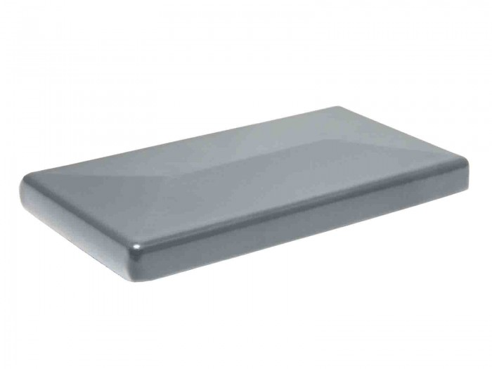 Aluminium Pfostenkappe mit Überstand für A2 Zaunpfosten