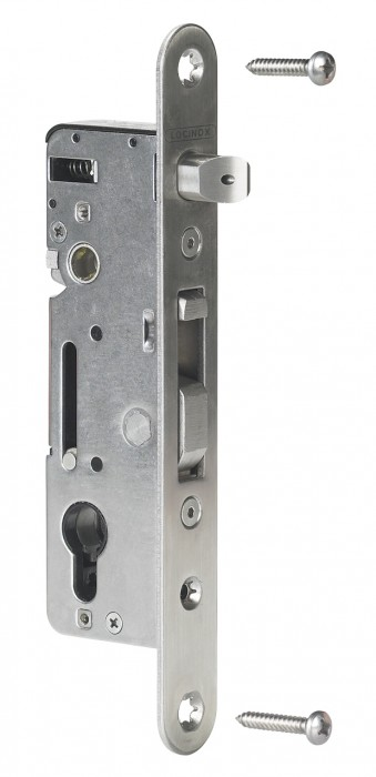 H-Metal - Locinox Einsteckschloss mit 35mm Dornmaß Aluminium/Holz