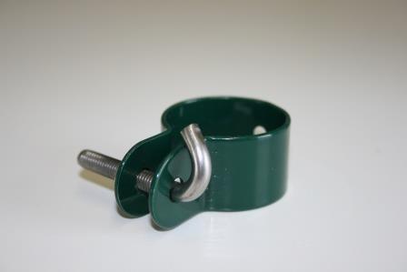 34mm Hakenschelle Moosgrün für Geflechtsspannstab