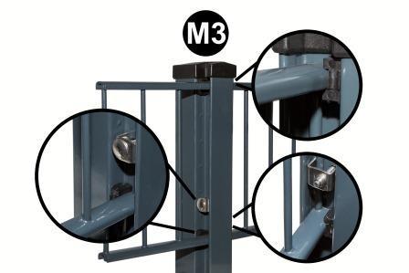 Klemmkeile M3 Zaunpfosten