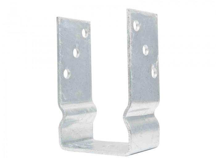 91 mm Pfostenträger zum Aufdübeln mit Wulst