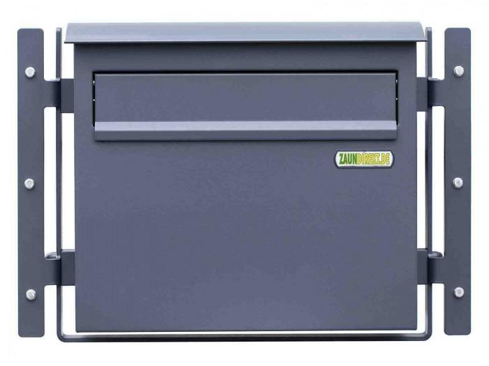 Zaunbriefkasten GRANDE in Feinstruktur matt - RAL 7016 anthrazit Briefkasten Durchwurfbriefkasten
