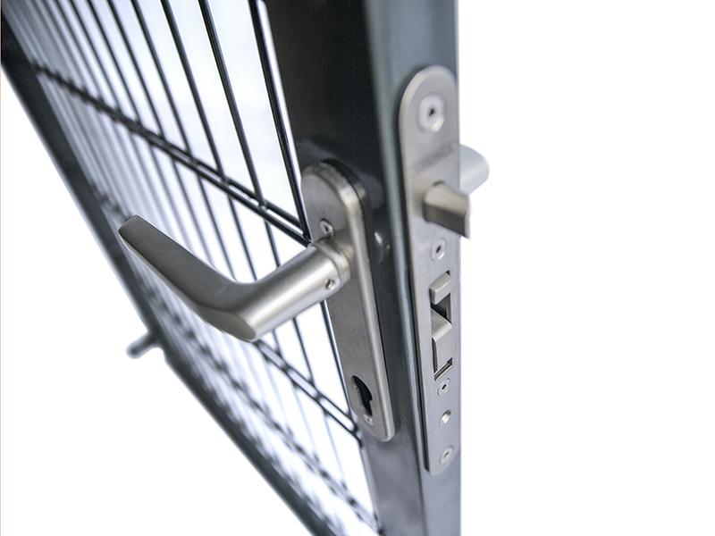 Zaundirekt Locinox Einsteckschlo/ß mit 35mm Dornmass Aluminium//Holz