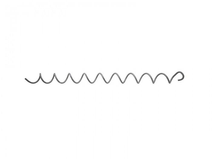 10x Spirale 4,5mm für Gabionen L=500mm Distanz Haken Metall Zink/Alu