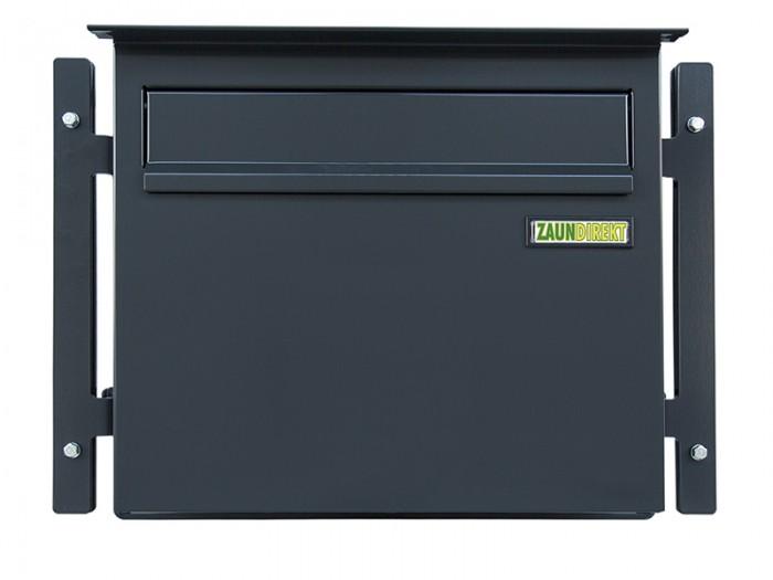 Zaunbriefkasten GRANDE in RAL 7016 anthrazit Briefkasten Durchwurfbriefkasten