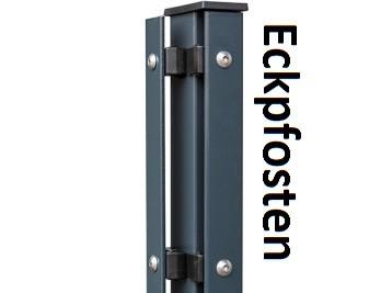A2 Eck-Zaunpfosten mit Abdeckleiste für 600-2000mm Zaunhöhe