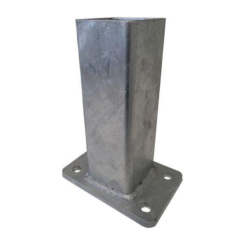 Spezial Fußplattenadapter für 60x60mm Torpfosten Feuerverzinkt