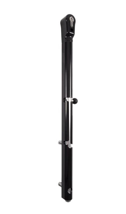Keydrop Verriegelbarer Bolzenstangenriegel in Schwarz RAL 9005