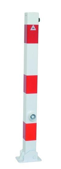 470FUHB Absperrpfosten 70 x 70 mm - umlegbar und herausnehmbar