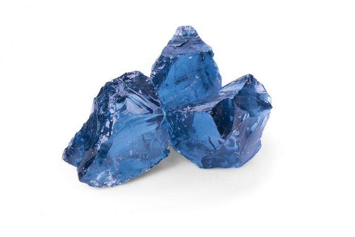 Glas Royal Blue:50-120mm Glasstein