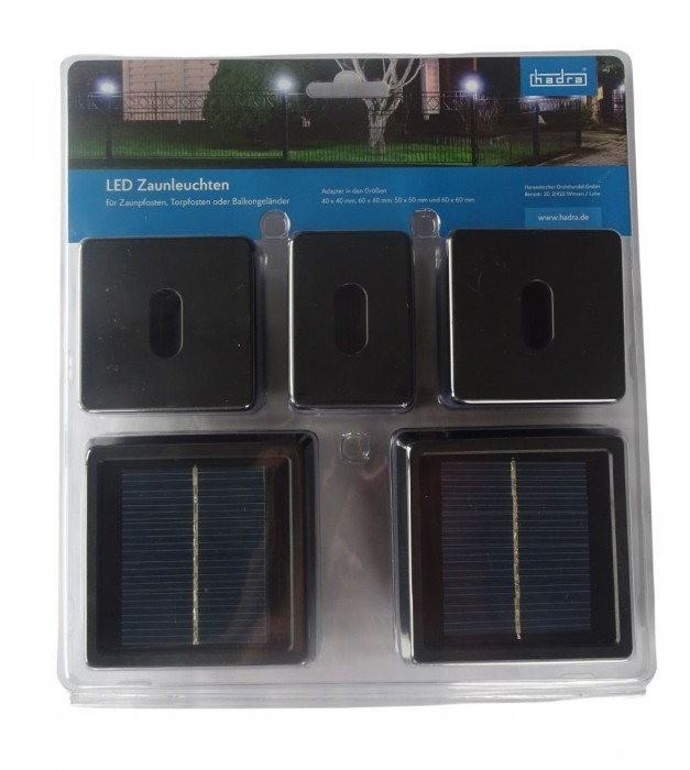 LED Solarkappe für Zaunpfosten Inhalt: 2 Stück