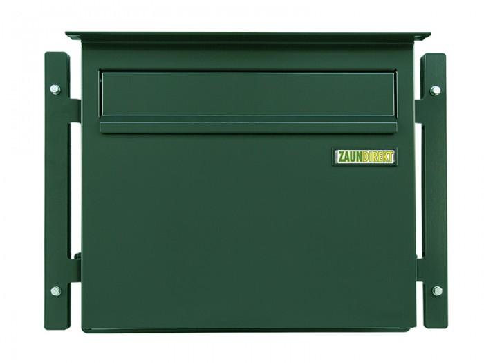 Zaunbriefkasten GRANDE in RAL 6005 moosgrün Briefkasten Durchwurfbriefkasten