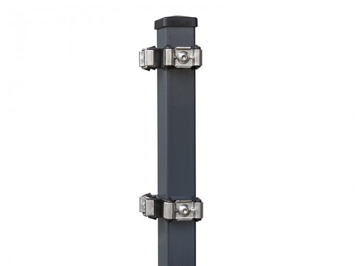 K1 Eck-Zaunpfosten mit Klemmdeckel
