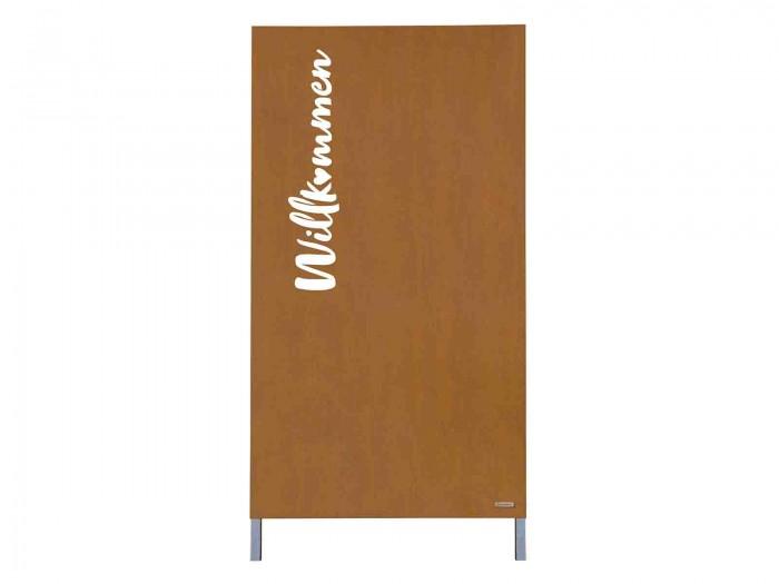 """Motivwand """"WILLKOMMEN"""" Cortenstahl H=1800mm"""